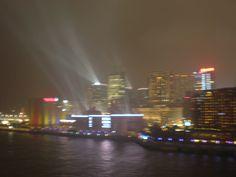 The lights of Hong Kong Harbor