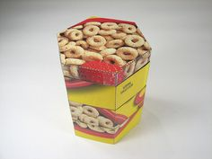 Stacking box from cereal packaging