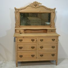 """Beautiful Edwardian Pine """"His n Her's"""" Dressing Chest (S4400D)"""
