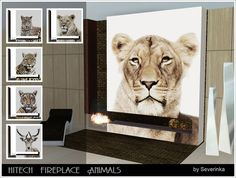 Hitech Animals fireplace by Severinka - Sims 3 Downloads CC Caboodle