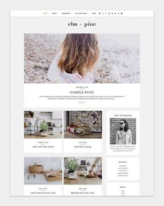 Elm + Pine Premade WordPress Blog Theme | Ideal for photography-based blogs, blog design, blog designer