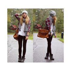 grunge fashion Tumblr Fall/Winter Casual style ❤ liked on Polyvore featuring outfits, pictures, lookbook, blonde and fashion photos
