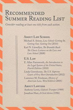 About those law school summer reading lists... | brazenandbrunette.blogspot.com