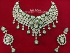 Every piece of jewellery tells a story. This one tells many! Client Diaries | Wedding Diaries | Kundan Meena Jewelry | Vilandi Jewelry | Diamond polki jewelry | Bridal | Traditional Indian Jewelry | Wedding Jewelry | Chand Bali | Chand Bala | Earrings | Jadau | Jadtar | gold diamond polki | meenakari