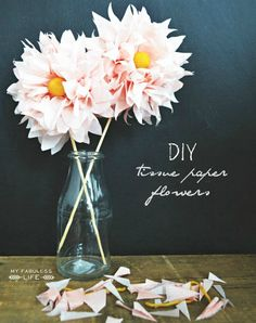 Super simple DIY Tissue Paper flowers