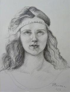 Graphite pencil portrait by Florina Ravariu. Pencil Portrait, Art Studies, Graphite, Colored Pencils, Jewelry Art, Graphic Art, Charcoal, Drawings, Artist