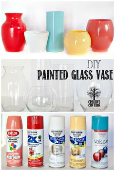 DIY Painted Glass Vase | tips for making your own custom vases and which paint was the best! | Creative Cain Cabin