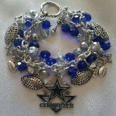 Shop #DallasCowboys #CharmBracelet, Dallas Cowboys #Jewelry, Best to buy Charm Bracelet in US Online Shopping site Mall140.com, Sale Price: $58.00 Purchase Now