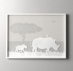 personalize their space with animal silhouette art. #rhbabyandchild