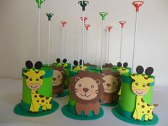Set of 6 Safari Animals Foam Decorations for a Baby Shower, 3 different sizes, great jungle themed centerpieces Jungle Theme Birthday, 2nd Birthday Party Themes, Baby Boy 1st Birthday, Jungle Party, Safari Party, Safari Theme, Animal Birthday, Birthday Party Favors, Tin Can Crafts