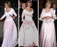 royalroaster:  Princess of Wales in pale pink gowns