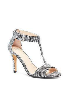 Mid-heel T-strap Sandal