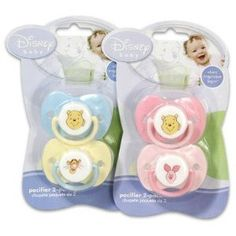 Disney Baby Winnie The Pooh Baby Pacifier 2 Pack - Blue & Yellow Baby Binky, Baby Pacifiers, Baby Shower Gifts, Baby Gifts, Disney Princess Babies, Winnie The Pooh Nursery, Baby Doll Accessories, Getting Ready For Baby, Baby Necessities