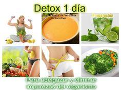 Detox 1 día Para adelgazar y eliminar impurezas del organismo