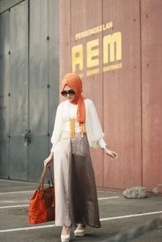 Orange Color - Winter Hijab Trends