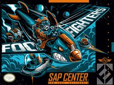 Foo Fighters San Jose Poster By Dayne Henry Release Foo Fighters Poster, Foo Fighters Dave Grohl, Comic Book Artists, Music Artists, Concert Festival, Rock Band Posters, Famous Stars And Straps, Pop Culture Art, Concert Posters