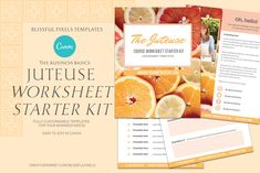 Juteuse - Lead Magnet Worksheets Kit by Blissful Pixels on Lead Magnet, Working On It, Email Templates, Proposal Templates, Web Browser, Cover Pages, Starter Kit, Flyer Design, Worksheets