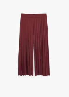 Плиссированные брюки капри
