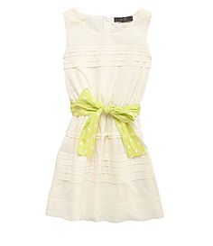 Jr. Bridesmaid: Jessica Simpson Tweenwear 716 Chios Voile Pleated Dress #Dillards
