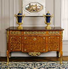 Jacques Van Oostenryk known as Dautriche (circa 1725/28-1778, Master in 1765), pair of commodes