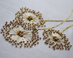 lovely--Etincelle Creative STUDIO: Course at Lesage in Paris - Salvabrani Bead embroidery stitches add sparkle to the ordinary – Artofit Learn the couture embellishment technique of tambour beading with world-renown experts, Hand and Lock, the company w Tambour Beading, Tambour Embroidery, Bead Embroidery Patterns, Couture Embroidery, Hand Embroidery Stitches, Silk Ribbon Embroidery, Embroidery Fashion, Embroidery Jewelry, Hand Embroidery Designs