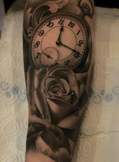 One more rose and clock