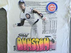 CUBS Shirt 1990 Vintage/ SHAWON DUNSTON Chicago by sweetVTGtshirt