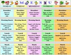 week one menu childcare.jpg | Recipes | Pinterest | Menu and ...