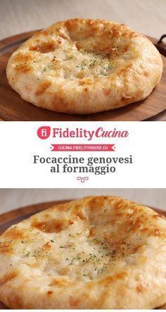 Focaccine genovesi al formaggio