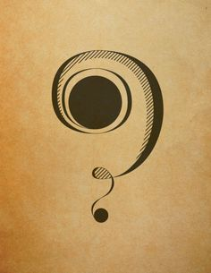 question mark typography - Google Search