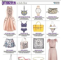 Our Gorgeous Ukulele CoCo shorts were featured in UK Mag Metro in the 25 July 2013 issue Wish List.    Get yours now at www.getherstyle.com.au