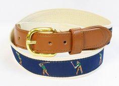 Golf Pefect Swing PGA Sports Leather Cotton Belt Wholesale 9801N