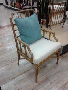 Bamboo Occasional Chair @ Home Sense  $299.00 Pillow comes in pack of 2 - probably around $40.00