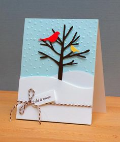 """Happy Winter - gorgeous card by """"Jean"""" Right as Rain."""