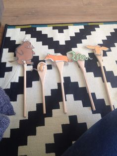 The gruffalo story spoons for story telling through play