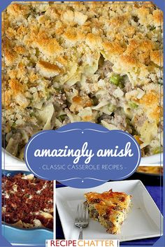 Amish Casserole Recipes | Looking for some of the best easy casserole recipes? Try these Amish recipes! There are even a few chicken casserole recipes in this!