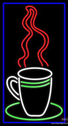 Coffee Cup Real Neon Glass Tube Neon Sign,Affordable and durable,Made in USA,if you want to get it ,please click the visit button or go to my website,you can get everything neon from us. based in CA USA, free shipping and 1 year warranty , 24/7 service
