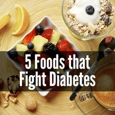Type 2 accounts for 90 percent of all diabetes cases worldwide. These 5 foods have been linked to a lower risk of type 2 or increased blood sugar control during the early stages of the disease. Did any of your favorites make the list? Type 2 Diabetes Recipe, Diabetes Care, Diabetic Food List, Diabetic Recipes, Healthy Recipes, Healthy Foods, High Blood Sugar Symptoms, Lower Blood Sugar
