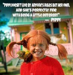 Pippi doesn't live by anyone's rules but her own and she's perectly fine with being a little different. Pippi Longstocking Movie, Amazon Girl, Girls Camp, Inner Child, Halloween Costumes For Kids, Magical Girl, Faith Quotes, Make Me Smile, Childhood Memories