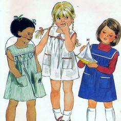 Butterick Pattern 3687 Children's Dress Size 6x.  #sharpharmade
