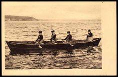 Ansichtskarte / Postkarte Alt Ellerbek Kiel, Fischerfrauen in Tracht Ruderboot | akpool.de #Kiel