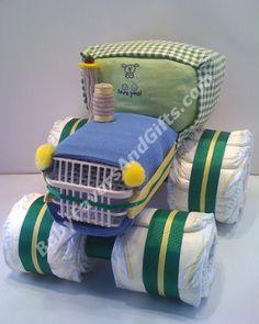 tractor diaper cake diaper-cake