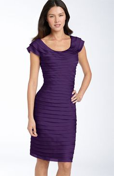 Adrianna Papell Tiered Chiffon Dress available at Tiered Dress, Adrianna Papell, Back To Black, Nordstrom Dresses, Chiffon Dress, Sheath Dress, Dress Up, Formal Dresses, My Style
