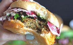 Mushroom and Zucchini Burger With Radicchio Slaw [Vegan] - One Green Planet