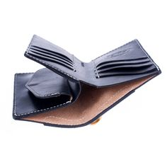KRYSL GOODS HANDMADE WALLET VZ.60 TRIFOLD BLACK LARGE : KRYSL leather goods s.r.o.