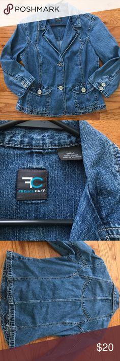 Frenchcuff jean jacket size small Frenchcuff jean jacket size small frenchcuff Jackets & Coats Jean Jackets