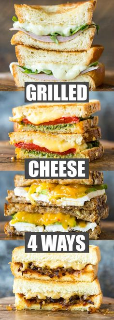 Discover 4 tasty new ways to build your next Grilled Cheese Sandwich! Featuring Roth's specialty cheeses, there's something for everyone in the family here. via @culinaryhill