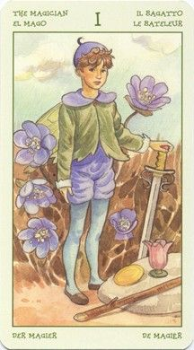Magician from the Spirit of Flowers Tarot