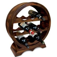 Puzzled Solomon 10 Bottles Wooden Holder Circle Shape Wine Dcor Rack Stand Furniture Circle Collection Unique and Elegant Gift Item 9424 * Details can be found by clicking on the image. (This is an affiliate link)