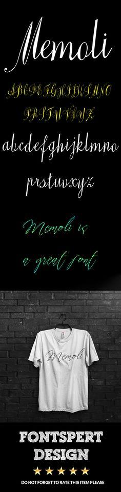Memoli Typeface - Calligraphy Script